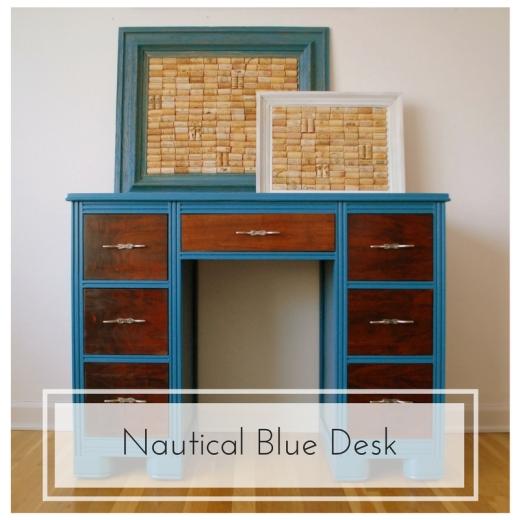 Blue Desk Before & After